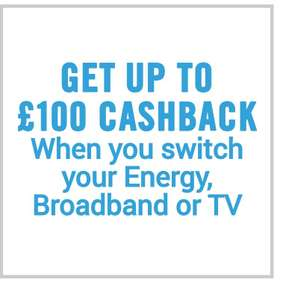 £100 cash back when you switch energy provider broadband or tv expires at midnight @ CarphoneWarehouse