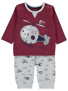 Helicopter design 2 piece outfit Age 9-12 months £4 @ Asda