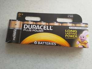 6 Pack D Cell Batteries Duracell £1 instore (Tesco North Road, Cardiff)