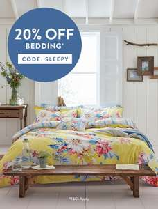 20% off Bedding with code @ Joules