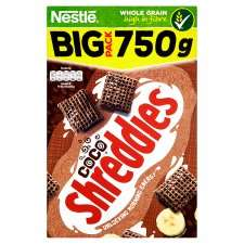 Nestle Shreddies Coco Cereal 750G £2 at Tesco - Also in Asda