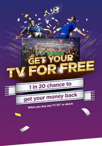 "1 in 20 Chance of your TV being free (55"" or bigger) @ Currys & PC World - - SAMSUNG QE55Q6FAMT 55"" Smart 4K Ultra HD HDR QLED TV £879"