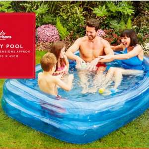 Morrisons 2 Ring Rectangular Family Pool £12