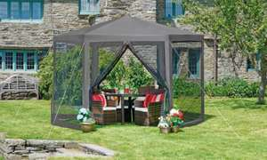Hexagon Gazebo £64.99 With Free Delivery at Groupon