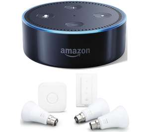 Philips Hue White and color ambiance Starter kit B22 with dimmer and Echo Dot for £94.62 @ Curry's PC World
