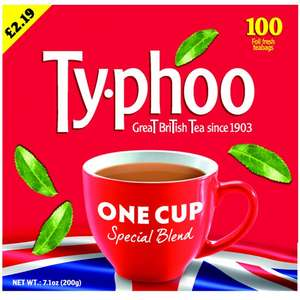 TYPHOO 100 ROUND TEA BAGS £1 @ Poundstretcher