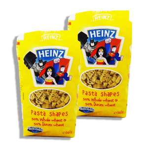 Heinz dried superhero pasta shapes 360g only 59p or 2 for £1 in Fulton