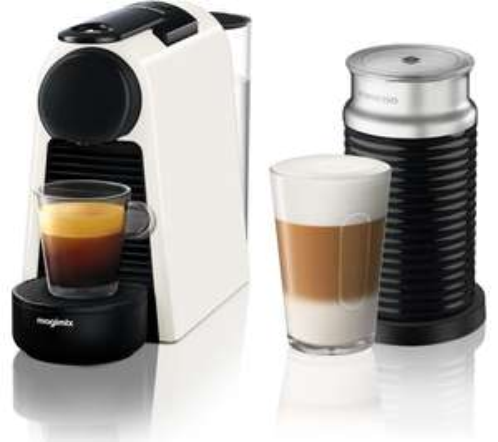 Nespresso Essenza Mini Coffee Machine with Aeroccino by Magimix, White - £82.99 @ John Lewis