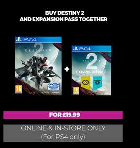 GAME Elite members: Destiny 2 + Expansion Pass (PS4) - £19.99