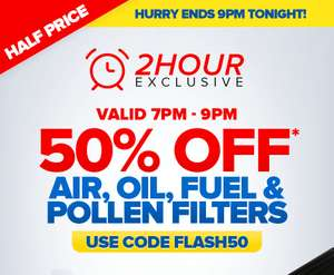 50% OFF Air, Oil, Fuel & Pollen Filters - EuroCarParts