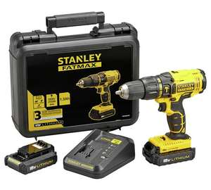 Stanley FatMax Cordless Hammer Drill With 2 18V Batteries - £74.99 @ Argos