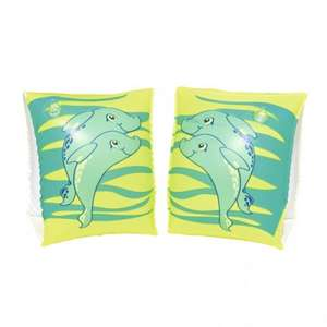 dolphin childrens armbands green / orange 59p a pair @ Poundstretchers