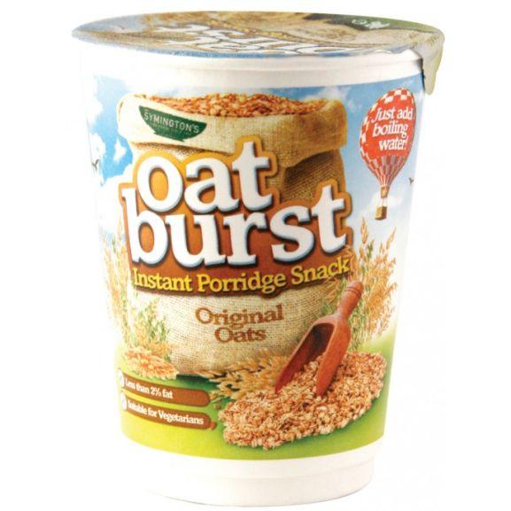 Symingtons Oatburst instant porridge snack original / golden syrup 64g- apple & blueberry 57g,  39p @ Poundstretcher