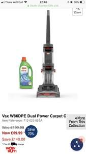 Vax carpet washer - £59.99 @ Studio (+ £5 P&P)