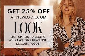 25% off @ new look instore and online from Look magazine