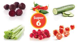 Aldi Super 6 Deals- 10th-23rd May- Celery 49p,  Mixed Chillies 65g 29p, Beetroot 500g 49p, Cucumber 39p, Salad Tomatoes 6 Pack 49p, Radish 250g 39p, Jamaican Jerk Sausages 400g £1.89, Lemon & Ginger Chicken 1.5kg £3.85, Caribbean Chicken 292g £2.99