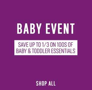 ARGOS BABY EVENT SAVE UPTO 1/3