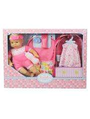 Doll set with carrier states £10, only £5 at checkout!! Asda