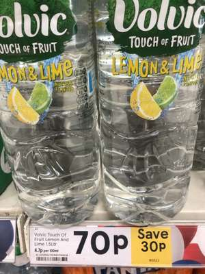 Volvic Touch Of Fruit Lemon And Lime water 1.5L was £1.00 now 70p Tesco's