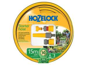 Hozelock Starter Hose Set 15m  £9.99 Amazon (Prime Exclusive)