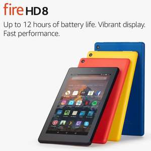 Fire HD 8 with Alexa, 16GB, Certified Refurbished from Amazon with sponsored ads for £54.99