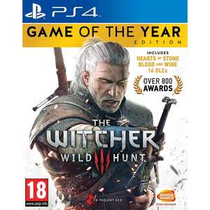 Witcher 3: Game of the Year Edition (Pre-Owned - PS4) - £13.19 @Music Magpie