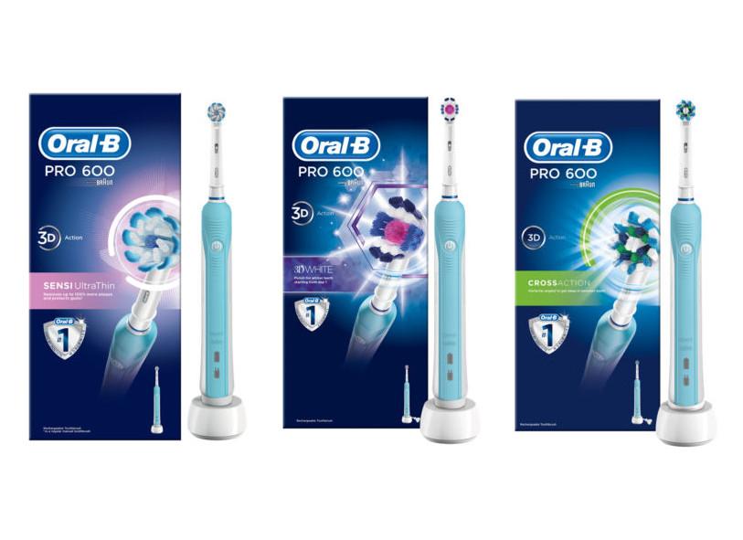 Oral-B Pro 600 Sensi-Clean / White & Clean / Cross Action for £15 @ Asda