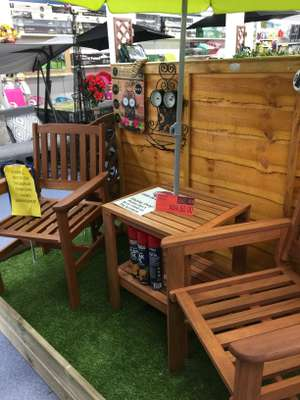 Jakarta Bistro Set 3pc £50 at B&M garden furniture
