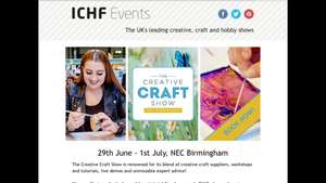 Free tickets with code for ICHF craft event NEC Birmingham 29th June-1st July