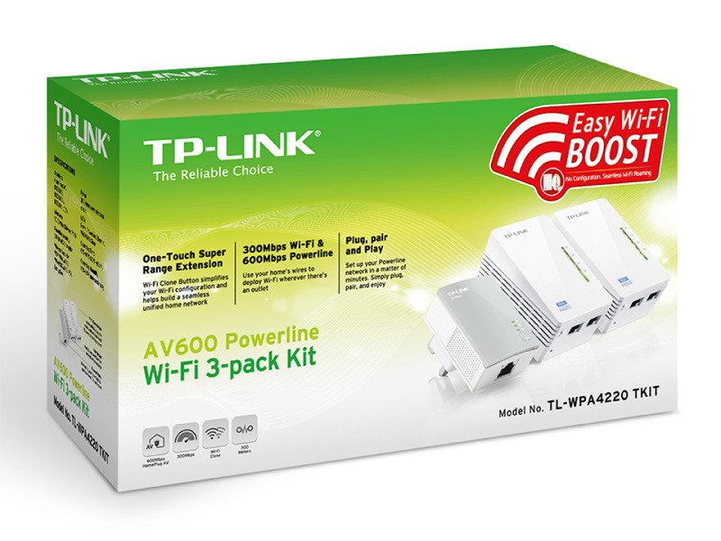 TP-Link TL-WPA4220T KIT V1.20 AV600 Powerline adapter kit  3 pack £51.99 Ebuyer (possible quidco)
