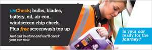 Halfords FREE Car Health Check