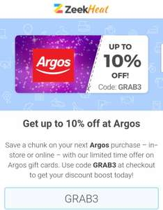 Get a £50 Argos gift card for £45.30 @ ZEEK