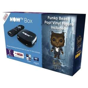 Now TV HD Digital Media Streamer Sky Cinema 1 Month Pass and Sky Store Voucher w/ Free Beast Pop! or Belle Pop! Figurine for £10 @ Tesco Direct (Free C&C)