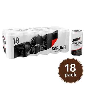 18 cans of 440ml Carling £10 online and instore @ Tesco