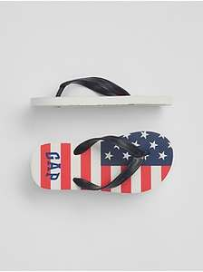 Kids Flag Logo Flip Flops Description for an extra 10% off @ Gap