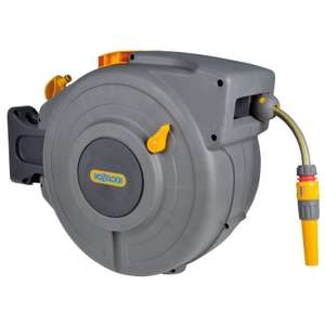 Hozelock Retracting Wall-Mounted Hose Reel, 20m £49 @ John Lewis