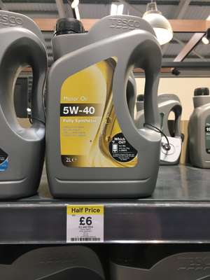 Tesco fully synthetic motor oil 5W-40 2 Litre £6 instore