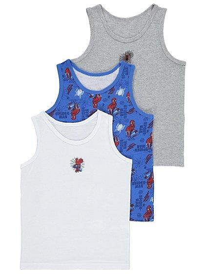 X3 Marvel Spider man vests age 5-6 yrs £3 @ Asda
