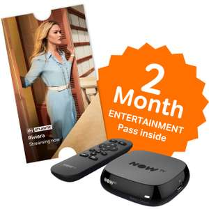 Now TV HD Box with 2 Month Ent Pass now £10 / Now TV HD Box w/ 1 Month Sky Cinema Pass £10 / Now TV HD Box w/ 3 Month Kids Pass £10 (£5 when bought with any TV) @ AO