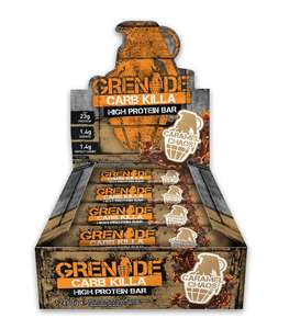 Grenade Carb Killa High Protein and Low Carb Bar, 12 x 60g - £15.19 (Prime) / £19.94 (non Prime)  Amazon Prime, 20% off, multiple use
