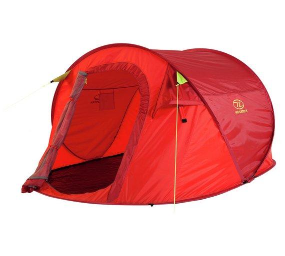 Highlander 3 Man Pop Up Tent £23.99 (plus more tents in post) @ Argos free c & c