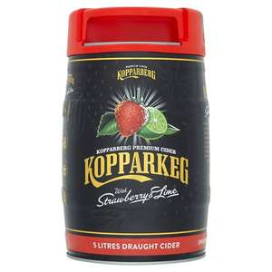 Kopparberg Keg Strawberry And Lime Cider 5L With Free Cooler Bag Worth £8 - £18 instore / Online @ Tesco