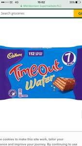 Cadburys Time out wafers 7pack £1 @morrisons £1.60 all other supermarkets