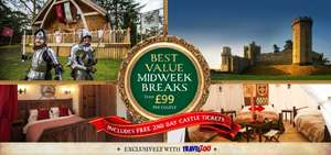 Stay in the grounds of Warwick Castle plus tickets from £99 FOR 2
