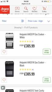 10% off all Hotpoint cookers at Argos with code