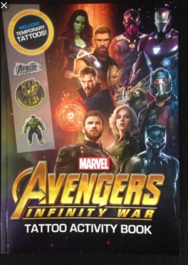 Marvel Avengers infinity War activity books 99p (rrp £5.99) @ The entertainer