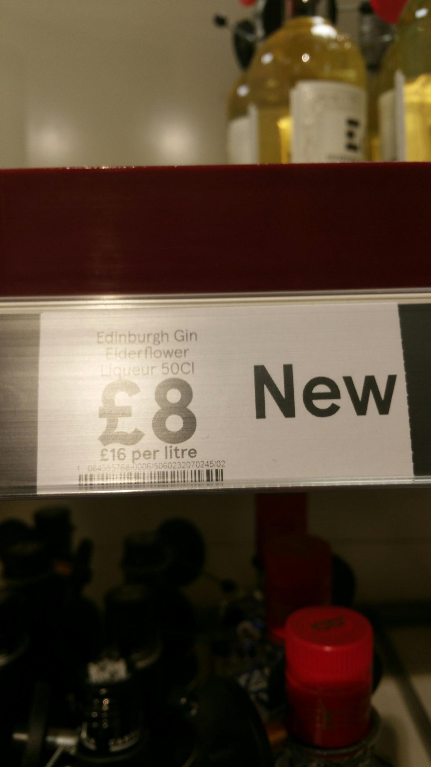 Edinburgh Gin Elderflower Liqueur 50Cl £8 @ Tesco (Aylesbury)