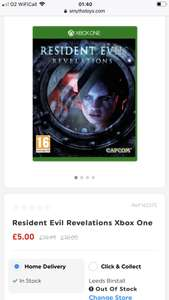 Resident Evil Revelations Xbox One at Smyths for £5 (C&C or + £4.99 Delivery)