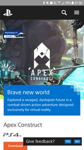 Apex construct Psvr demo free U.S store discount offer