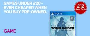 £12 in Superpoints back on £48 spend (includes preowned games!) @ GAME via Rakuten